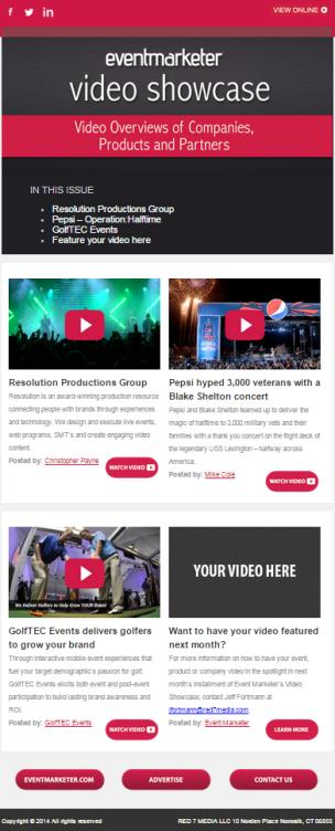 video showcase template